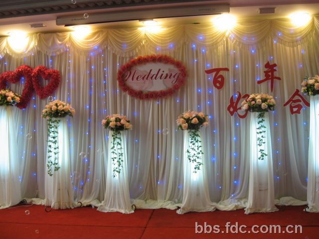 酒店婚礼现场 欧式背景