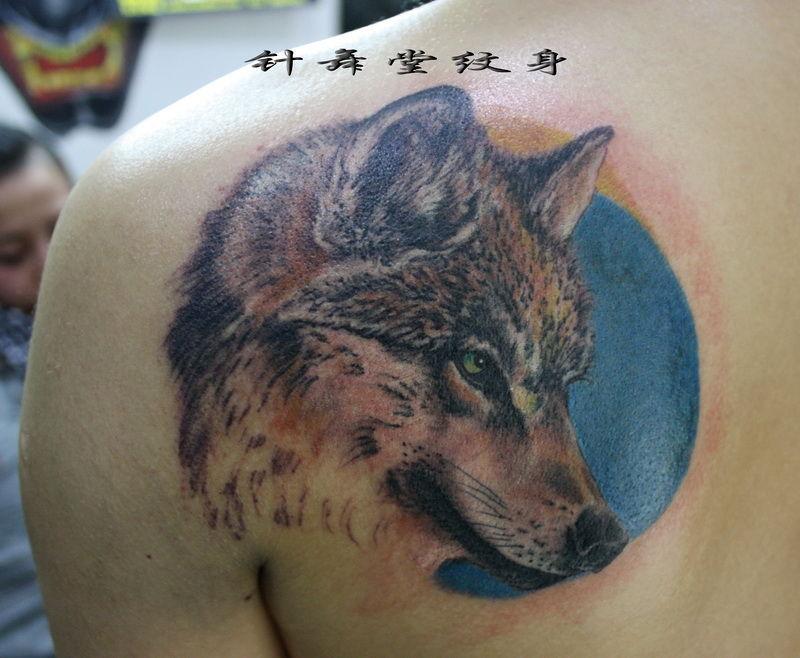 狼 纹身图片
