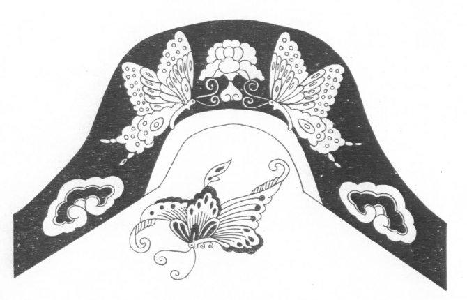 蒙古族花纹图片_人像民俗