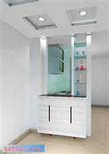 入户柜加拐角鞋柜屏风效果图图片 鞋柜屏风隔断效果图,进门