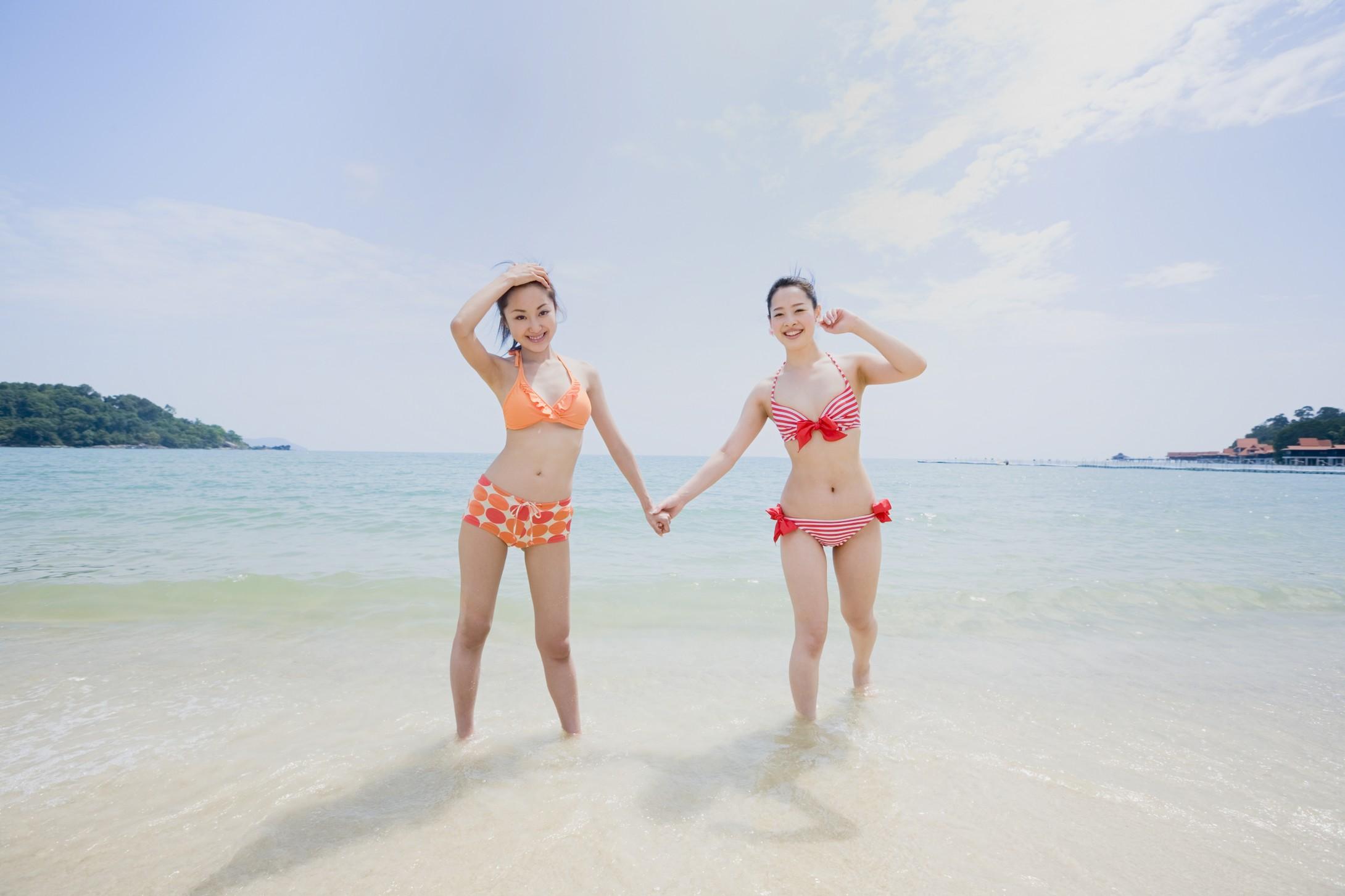 沙滩排球 沙滩美女 沙滩排球美女