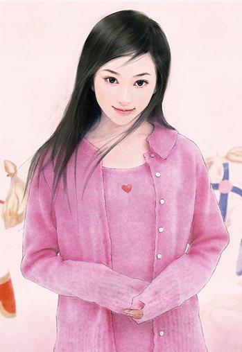 清冷现代美女手绘图