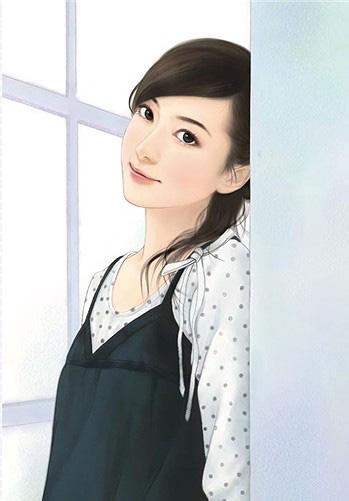非常漂亮的现代美女手绘图;