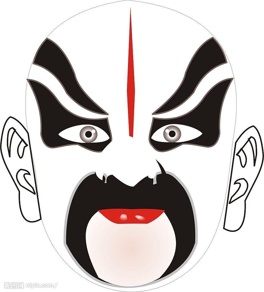 秦腔各种脸谱海报内容秦腔各种脸谱海报版面设计