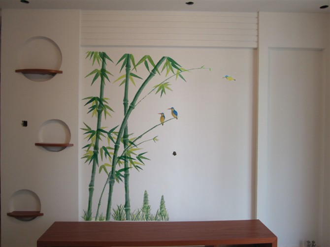 墙绘素材 电视墙