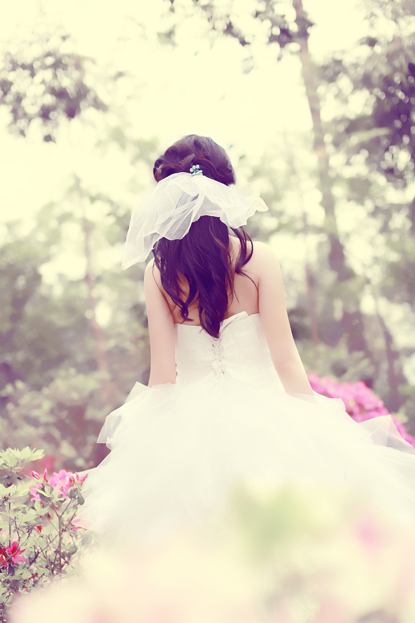 婚纱唯美图片背影_婚纱背影图片女生唯美