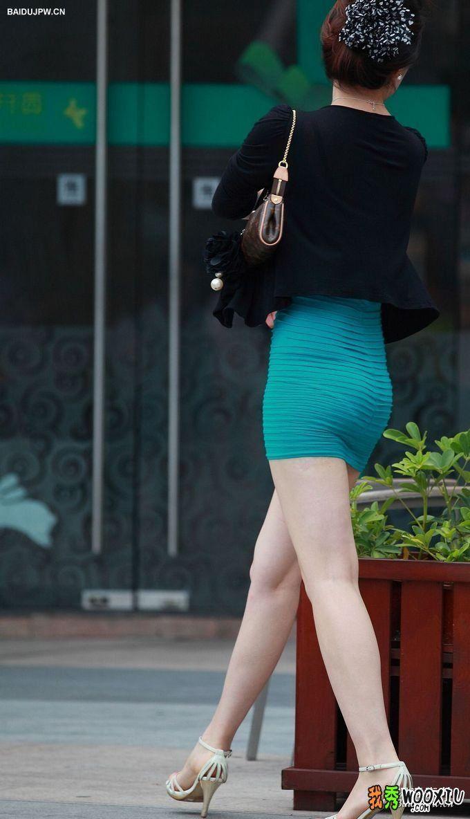透明超短包臀裙美女
