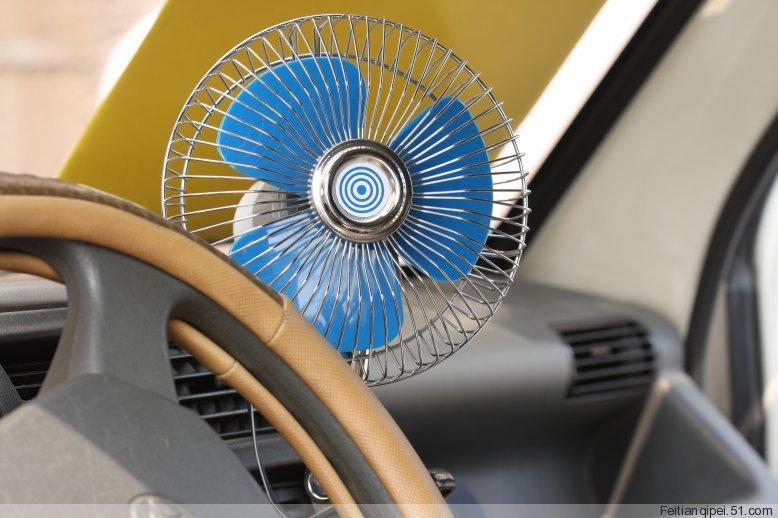 超强劲12v6寸汽车用电 风扇 夏季车载电 风扇 带 夹子 会 摇头 可调速