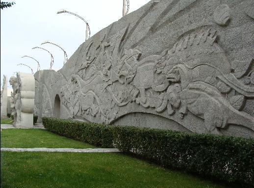 弧形文化墙效果图