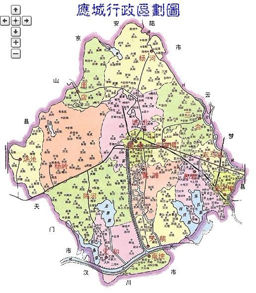 应城行政区划地图图片