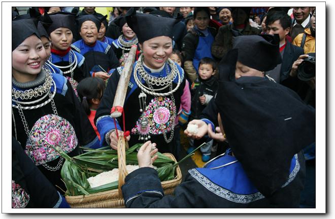 三穗寨头苗族人民有着独特民风民俗