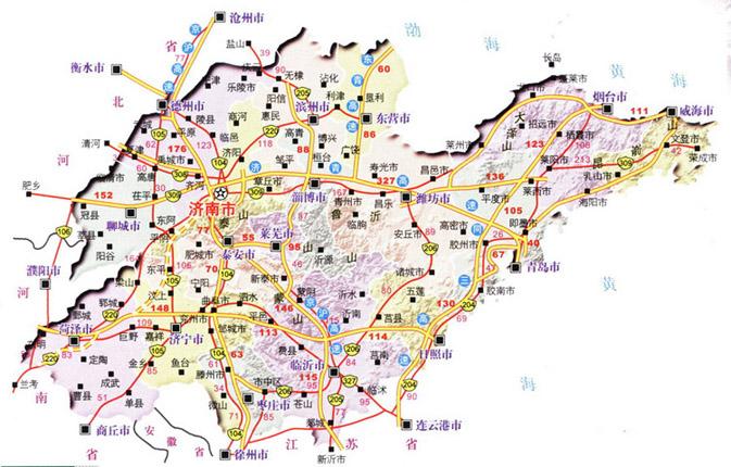 山东省高速公路地图山东省交通地图 行车户外