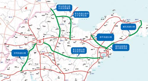 山东省高速公路地图