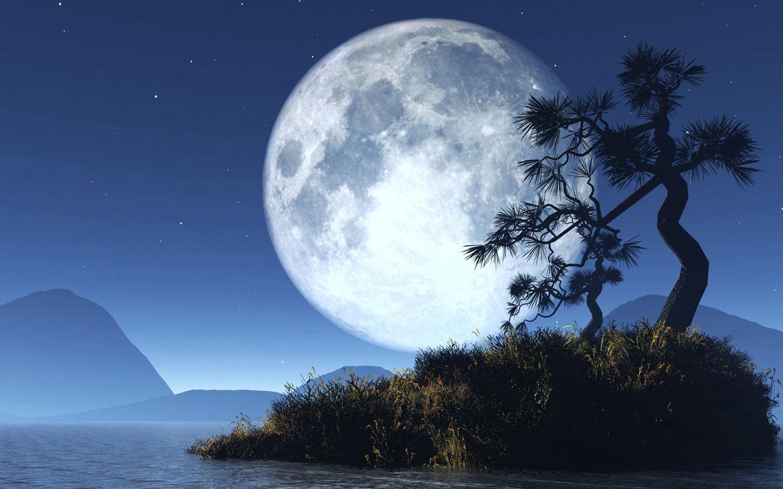 蓝月亮桌面壁纸