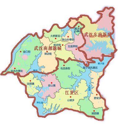 武汉市第一大区:比江夏,新洲还大,相当于4个洪山区!图片