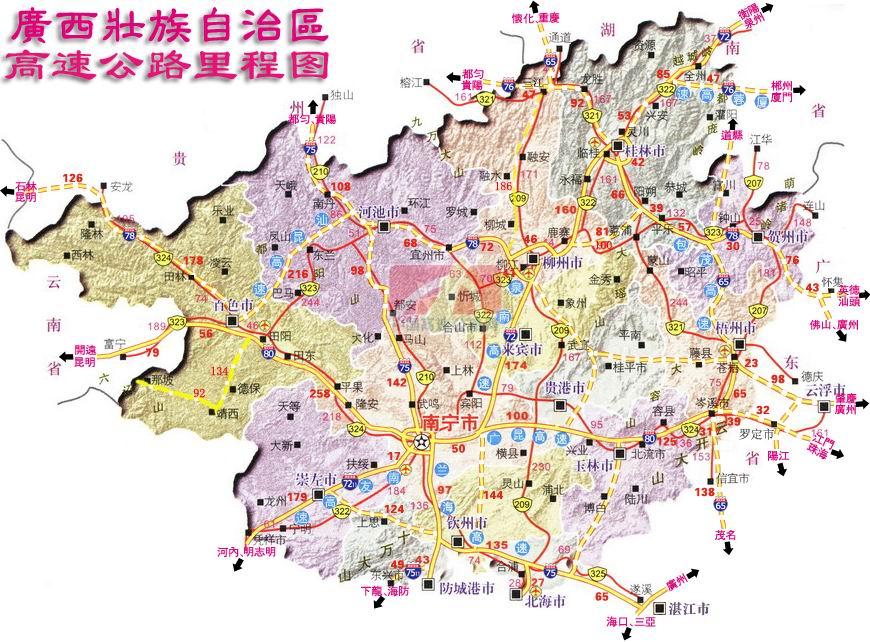 广西高速公路规划及东兰高速路