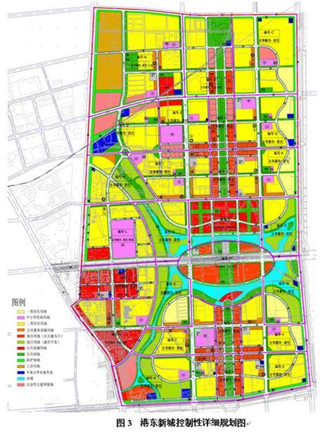 描述:港东新城规划地图
