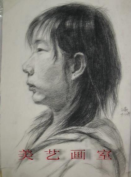 [原创]美艺画室素描人头像