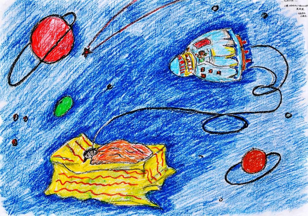 科幻绘画一等奖作品小学生科幻绘画作品少儿科幻