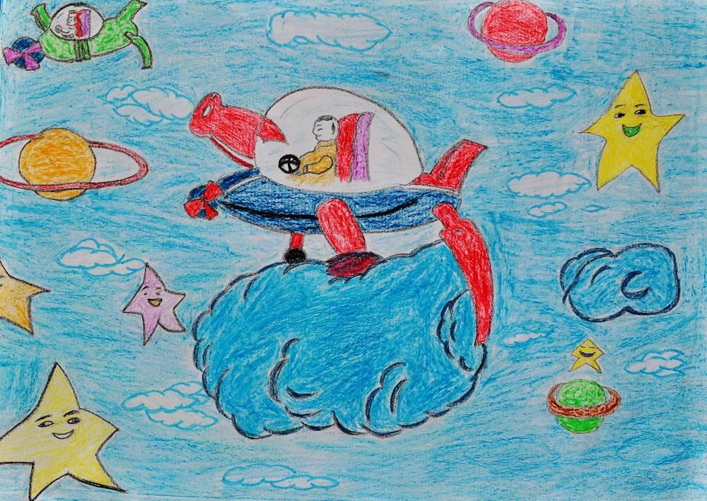 这是一副儿童科学幻想画,希望各位亲们 帮忙想个题目