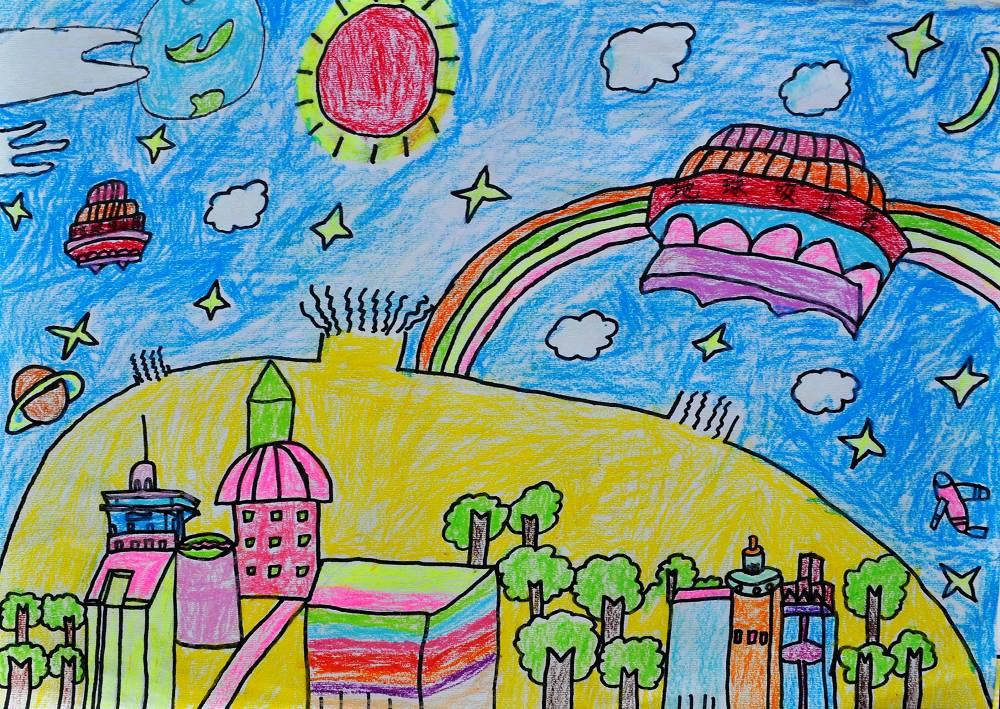 学生科幻绘画作品(图)图片图片