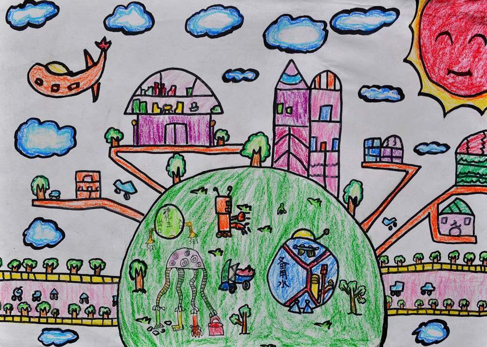 学生科幻绘画作品(图)-三年级学生科幻画作品展示