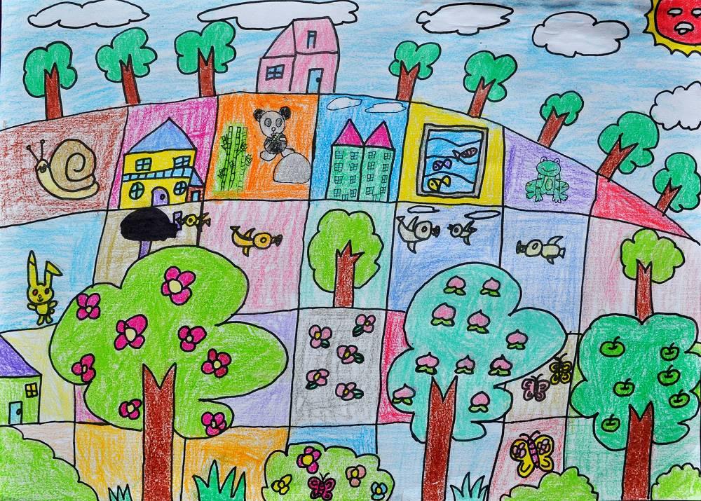 中班绘画作品图片 幼儿园教师绘画作品 中班思维绘画作品