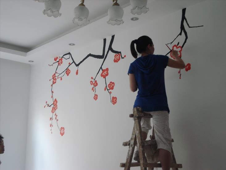 手绘墙画图案论坛图片