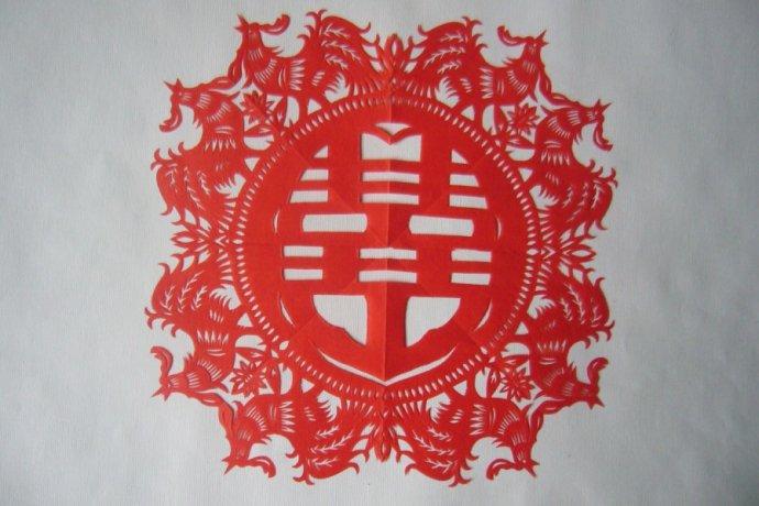 [转贴]民间剪纸艺术--十二生肖喜字团花