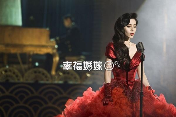 血红色的婚纱_范冰冰身着红色妖娆血裙婚纱诱惑100
