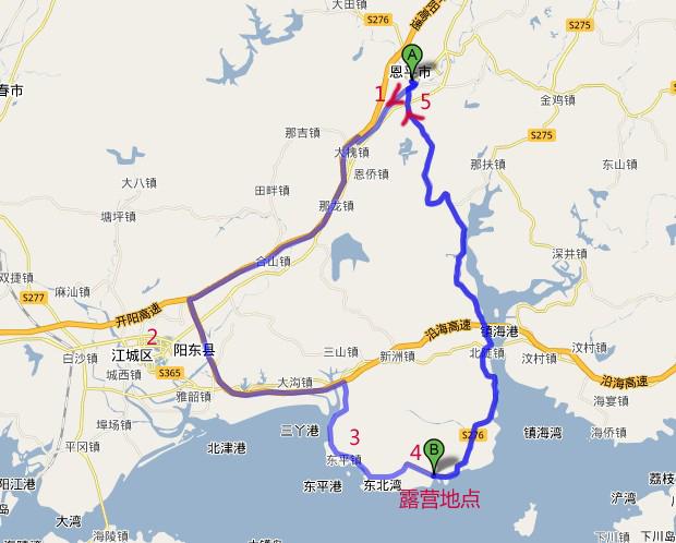 江门市恩平市地图