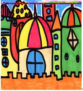 美术第一期集体备课小学篇(实小)《童话城堡》图片