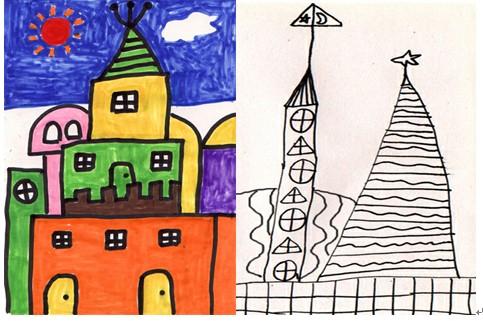 一年级美术教案 漂亮的童话城堡