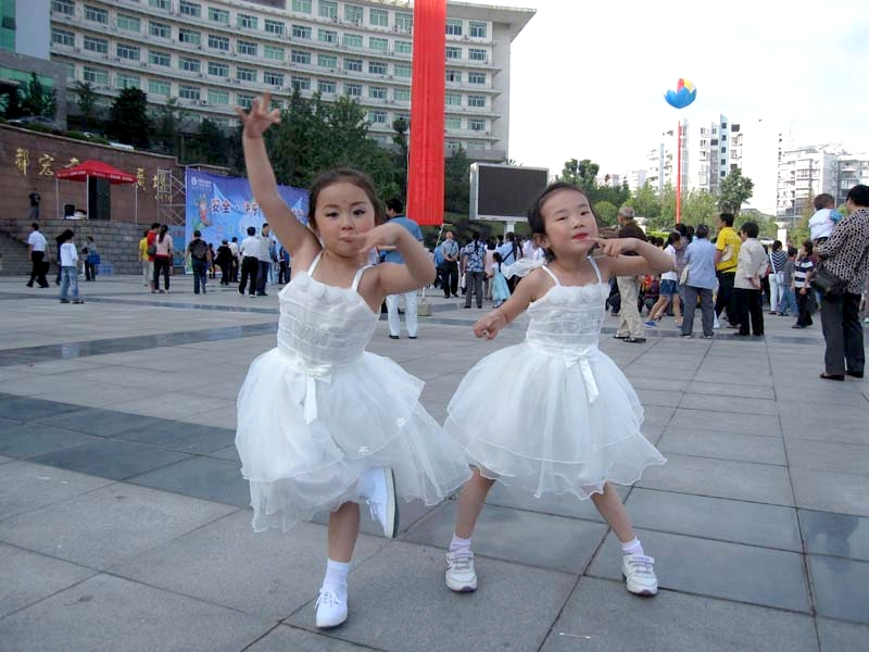 主题: 庆六一示范幼儿园花样体操表演