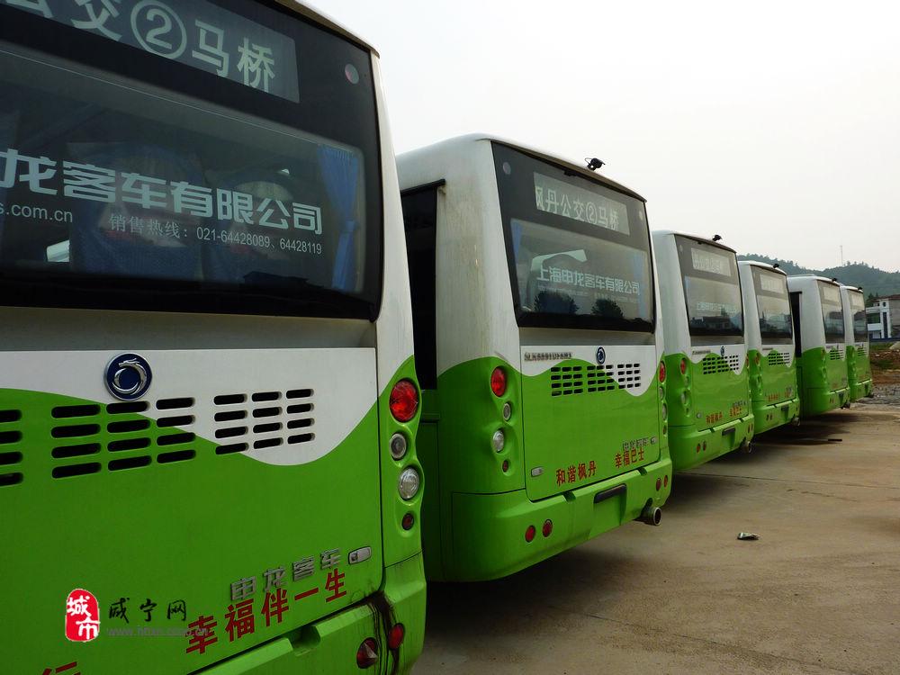 绿色公交车矢量图