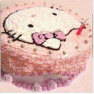 可爱蛋糕羊图案