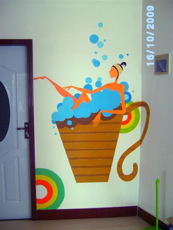 手绘墙工作室***!