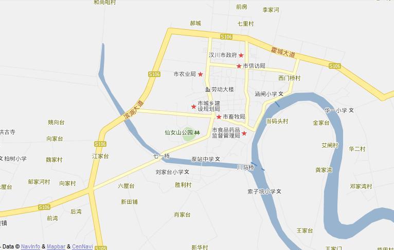 汉川地图,汉川电子地图