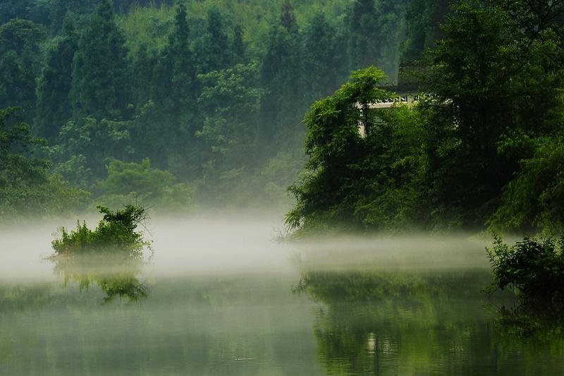 峨眉山龙洞湖 洪雅七里坪风光 风光生态