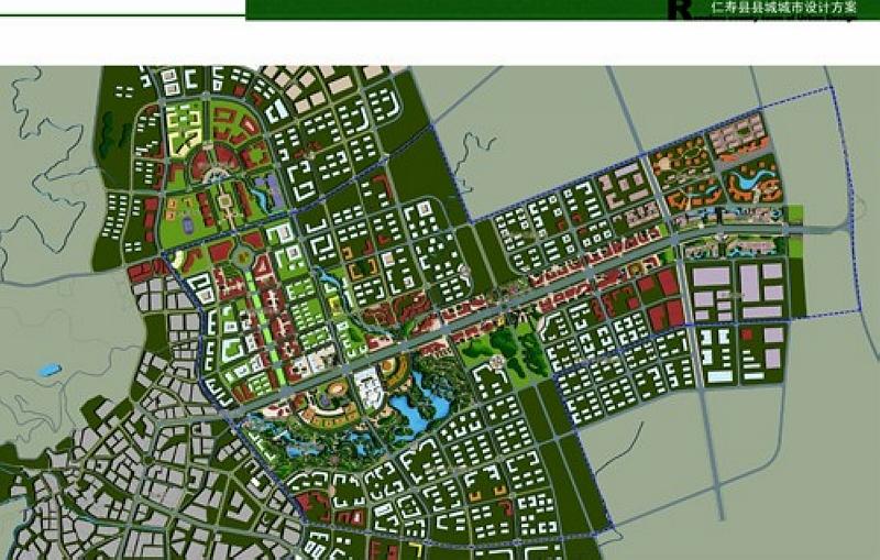 仁寿新城控制性详细规划部分简介 多图 图说仁