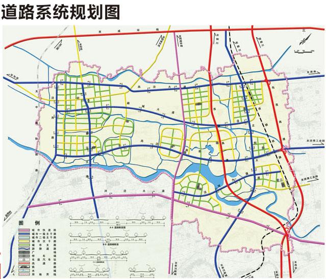 泾河 新城 道路系统 规划图 原创摄影 泾阳 高清图片