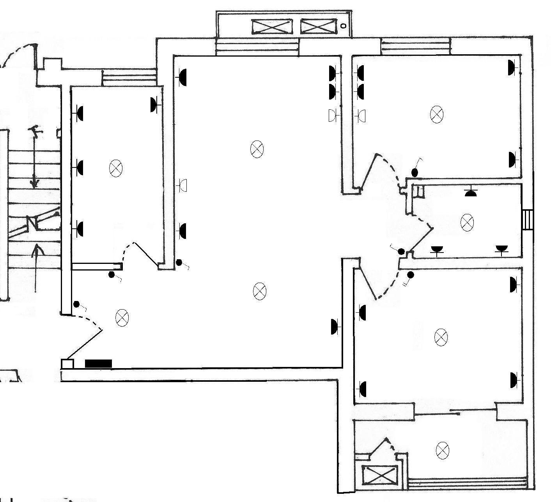 西七路单元楼建筑室内电路图