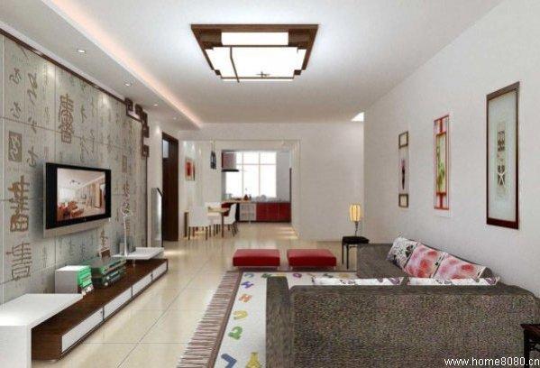 客厅电视背景墙装修效果图大全2012图片,简单电视墙装饰欣赏