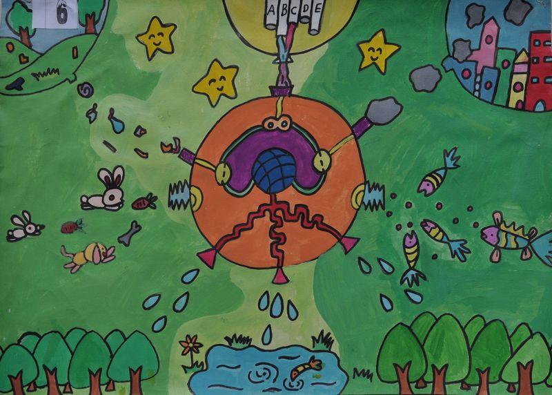 主题: 三穗县第五届青少年科幻画获奖作品选登图片