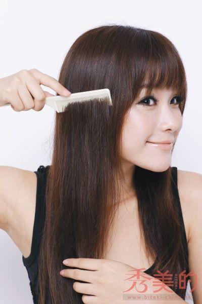 齐刘海超长大波浪逼真头发
