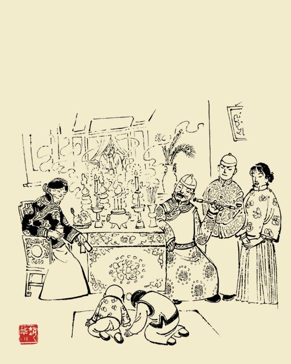春节习俗手绘画大全