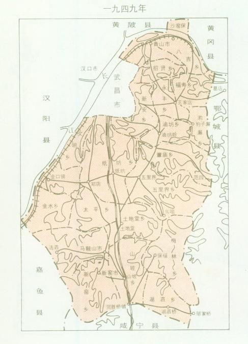 江夏地图; 主题: 武汉区划图;