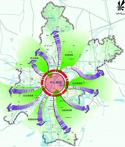 武汉的多位城市和交通规划