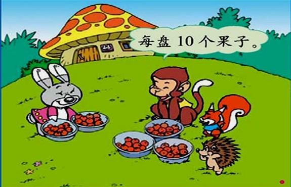 2.小动物们都急坏了,可小兔却说:各位且慢,你们能根据这些数学信息提出一些数学问题才可以吃果子呢。同学们,快帮帮它们吧!你们能提出哪些数学问题? 【设计意图】鼓励学生从生活中发现问题,培养问题意识。 师:同学们一下子提出了这么多问题,真不错!(诡秘地)我跟小兔好招呼了,解决了(板书)一共有多少个果子?的问题,就让咱们和小动物一起吃果子了。你们能解决吗? 3.师:赶快和同桌同学一起用赶快用小棒代替果子摆摆看,一共是多少个果子? 4.学生汇报后,(50个)师问:要求一共有多少果子该怎样列式?板书:20+3