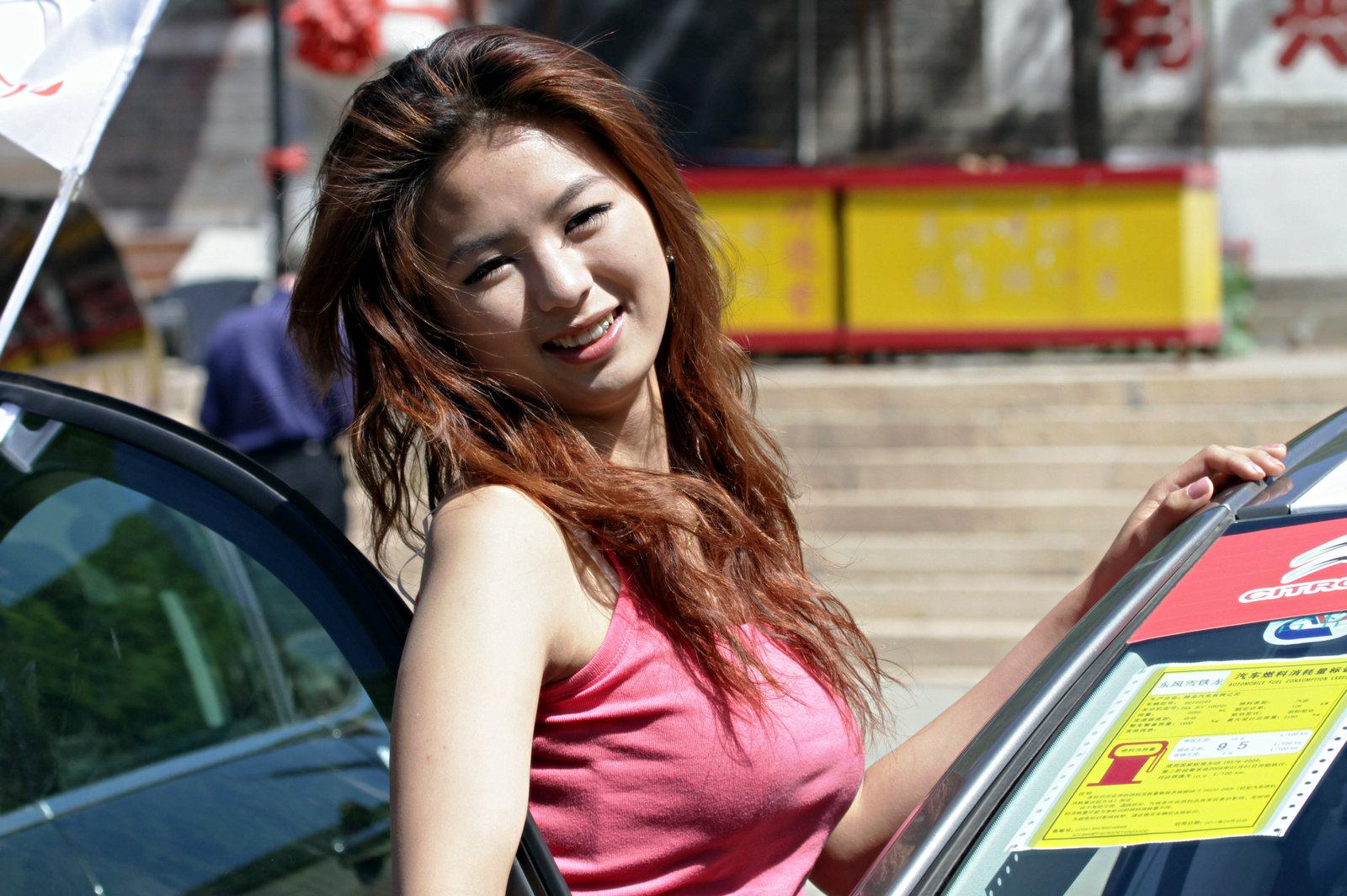 朝阳香车美女摄影 1600x1064;